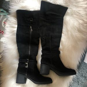 Above the knee black boots Brand New